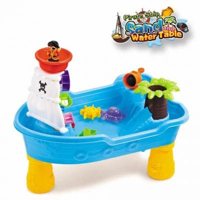 A-Free Large Pirate Ship Water Table for Toddler