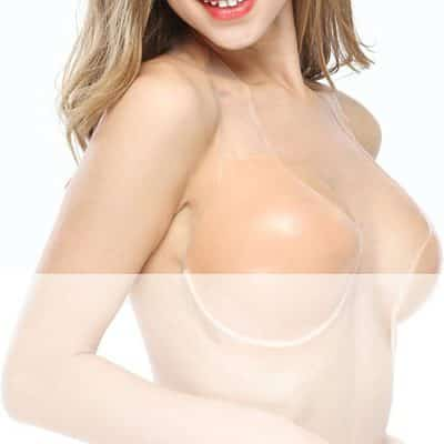 Large Cup Backless Plunge Invisible Bra