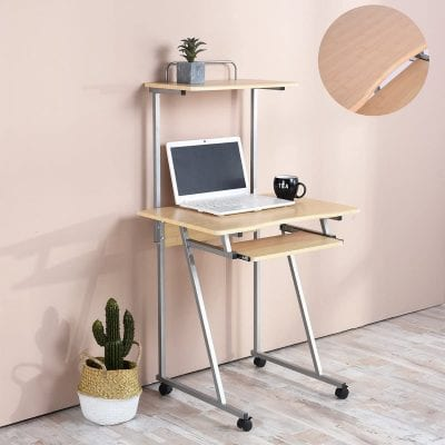 Aingoo Mobile Computer Small Rolling Ladder Desk