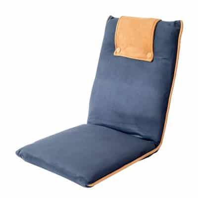 bonVIVO Padded Floor Chair, Blue & Beige