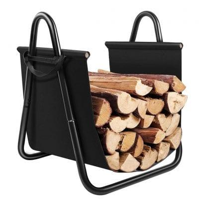 AMAGABELI GARDEN Fireplace Log Holder Indoor Firewood Rack