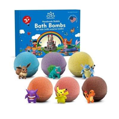 Multicoloured Organic Bubble Bath Bombs