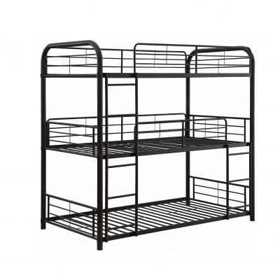 ACME Furniture Triple Bunk Bed, Sandy Black