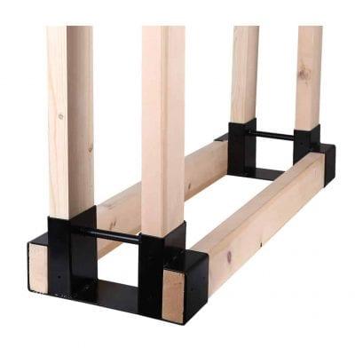 Mofeez Log Firewood Outdoor Storage Rack-Adjustable