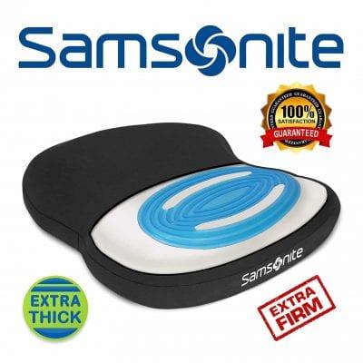 Samsonite SA6020 Thick & Extra Firm Gel Seat Cushion