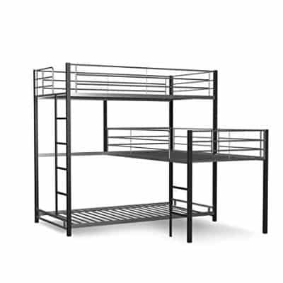 Furniture of America Triple Bunk Bed, Sand Black