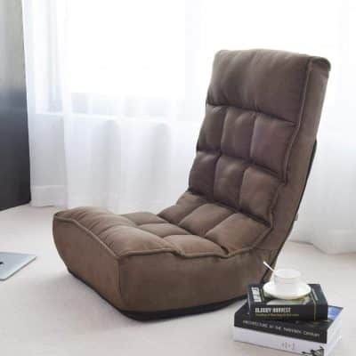 Giantex Floor Chair - Adjustable Angle, Brown