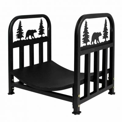 INNO STAGE Wrought Heavy Duty Iron Log Rack- Fireplace log holder