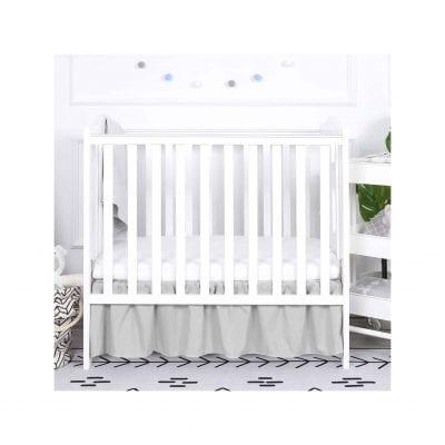 TILLYOU Gray Mini Ruffled Crib Skirt