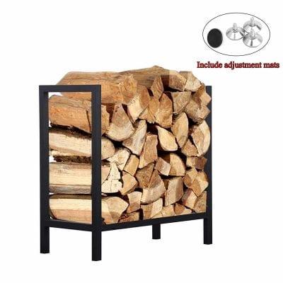 Ucared Log Rack 24 Inch Firewood Rack- Wood storage rack