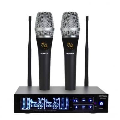 GEARDON Rechargeable Dual Wireless Microphone System