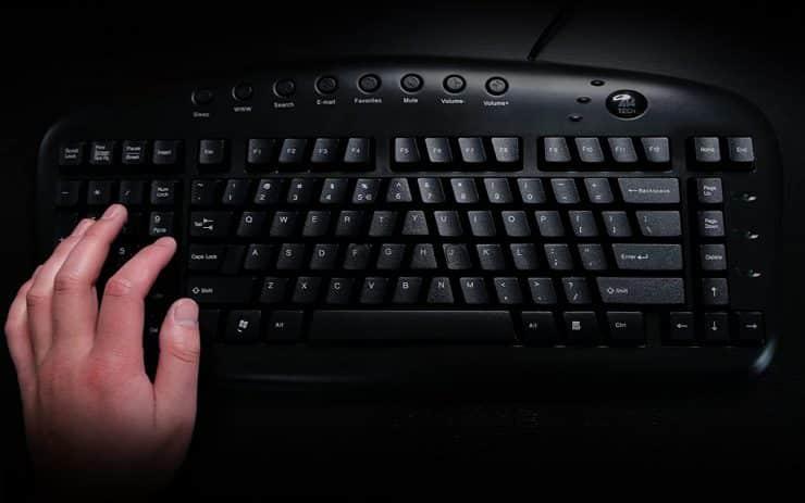 Left Handed Keyboard