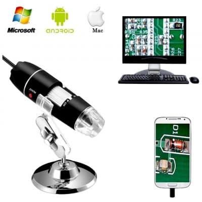 3. Jiusion 40 to 1000x Magnification USB 2.0 Digital Microscope