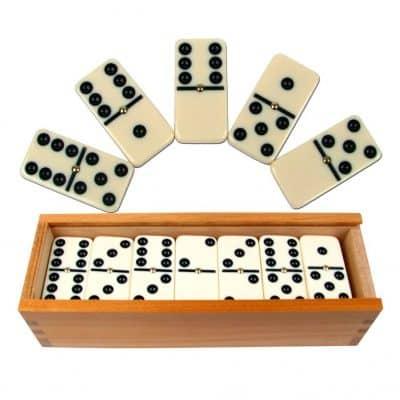 Premium Set of 28 Double Six Dominoes