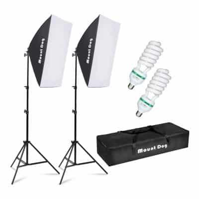 MOUNTOG Soft Box Lighting Kit
