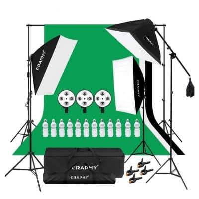 CRAPHY Photography Softbox Lighting Kit