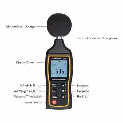 KKmoon High Accuracy LCD Digital 30 to 130 Decibel Meter