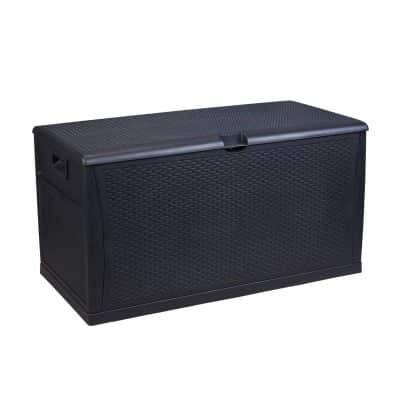 Patio Deck Box Outdoor Storage Plastic Bench