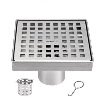 HomGif 5-Inch Floor Square Shower Drain