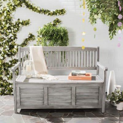 Safavieh Outdoor Grey Storage Bench
