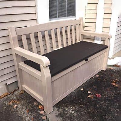 50-inch outdoor storage bench