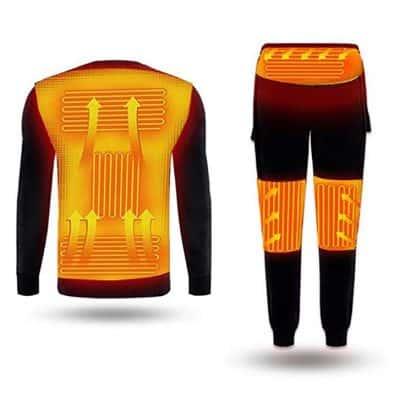 Yameeni Men's USB Heated Underwear Sets