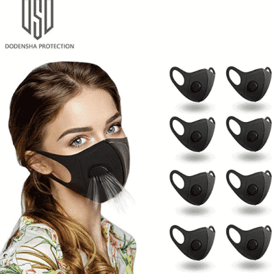 DODENSHA 8 pcs Unisex Half Mask