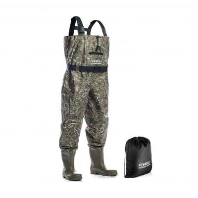 Foxelli Nylon Chest Fishing and Hunting Waders