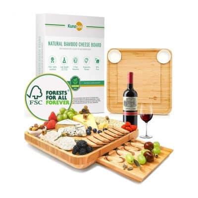 Kuna boo Bamboo Cheese Board and Knife Set