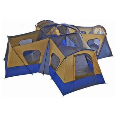 fortunershop 14 Person Family Cabin Tent with 4 Rooms
