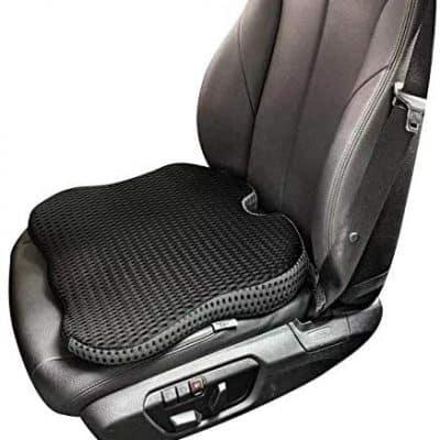 Dreamer Car Seat Cushion Sitting or Driving Seat Pad, (Black)