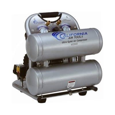 California Air Tools Ultra Quiet and Oil-Free Air Compressor, Silver
