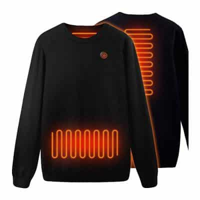 Heated Tops Knitted Thermal Sweatershirt