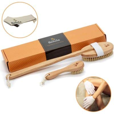 Belula Premium Dry Brushing Natural Soar Bristle Body Brush