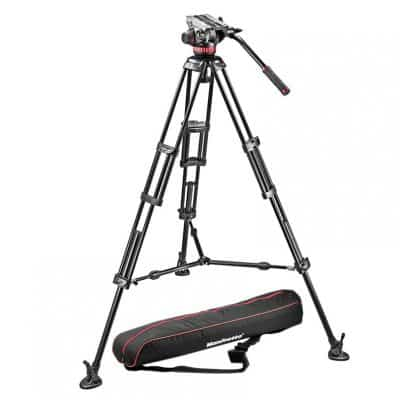 Manfrotto Fluid Video System with Aluminum Legs