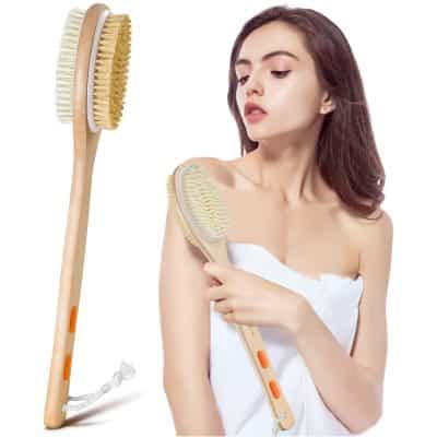Bymore Dry Brushing Shower Brush with Long Handle