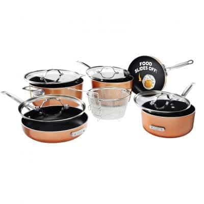 Gotham Steel Stackmaster Pots and Pans Set, 10 Piece Cookware Sets