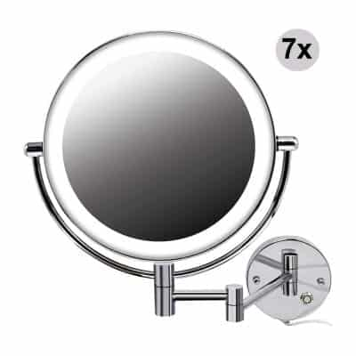 Jolitac 8.5 Inch LED Makeup Mirror Wall Mounted