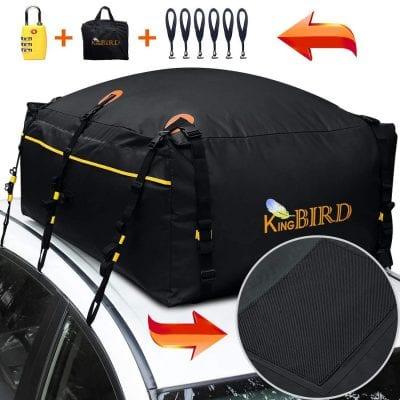 KING BIRD 20 Cubic Feet 100% Waterproof Roof Bag, Top Cargo Carrier