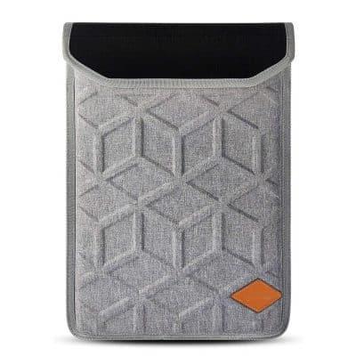 Lymmax Vertical 15.6 Inch Waterproof Laptop Sleeve, Grey