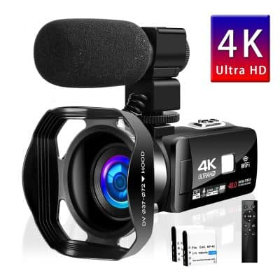 SEREE Camcorder 4K 48MP Digital Camera