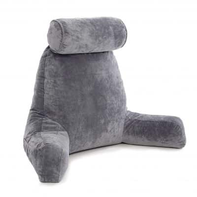 Husband Pillow Bed Rest Big Backrest Reading Pillow with Arms