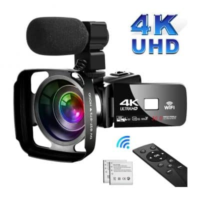 SAULEOO 4K Camcorder Video Camera