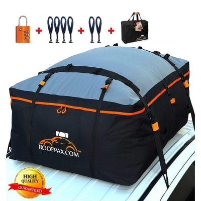 RoofPax Car Roof Bag 19 Cubic Feet Rooftop and Cargo Carrier