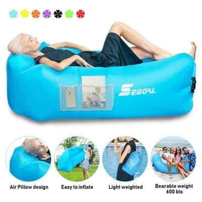 SEGOAL Inflatable Lounger Pouch with Pillow