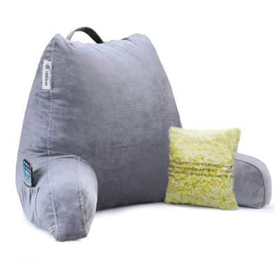 Vekkia Premium Soft Bed Rest and Reading Memory Foam Pillow