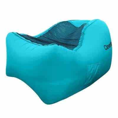 CleverMade Inflatable Lounger Chair with a Carrying Bag