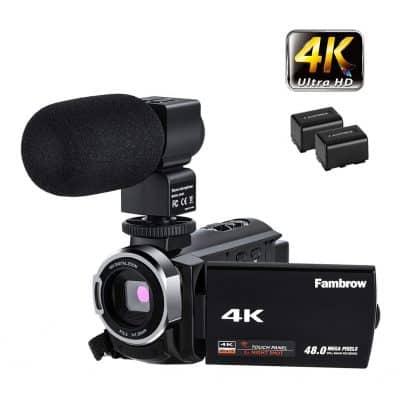 FamBrow 4K Video Camera Camcorder