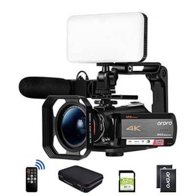 ORDRO AC5 Optical Zoom 4K Camcorder