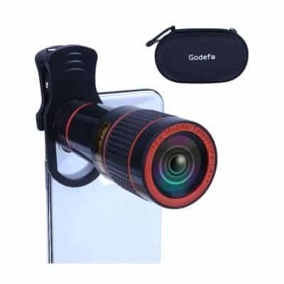 Godefa 12X Zoom Telephoto Cell Phone Camera Lens